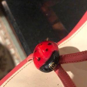 CHANEL Shoes - Chanel Ladybug heels in pink